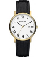 Buy Rodania Mens Gold IP and Black Zola Watch online