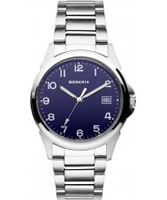 Buy Rodania Mens Blue and Silver Racine Watch online