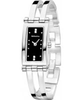 Buy Rodania Ladies Black and Silver Genona Watch online