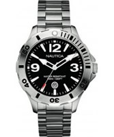 Buy Nautica Mens BFD 101 Black Silver Watch online