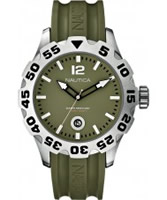 Buy Nautica Mens BFD 100 Green Resin Watch online