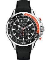 Buy Nautica Mens NST 02 Black Chronograph Watch online
