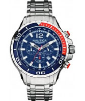 Buy Nautica Mens NST 02 Silver Chronograph Watch online
