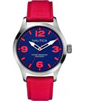 Buy Nautica Mens BFD 102 Red Watch online