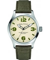 Buy Nautica Mens BFD 102 Khaki Green Watch online