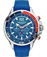 Buy Nautica Mens NST 02 Blue Chronograph Watch online