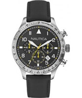 Buy Nautica Mens Black BFD 105 Chronograph Watch online