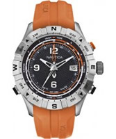 Buy Nautica Mens Orange NST 550 Tide Temp Compass Watch online