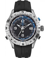 Buy Nautica Mens Black NST 550 Tide Temp Compass Watch online
