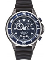 Buy Nautica Mens Blue and Black NMX 650 Chronograph Watch online