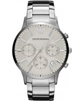 Buy Emporio Armani Mens Silver Renato Multifunction Watch online