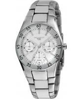 Buy Dilligaf Ladies Steel White Dial Silver Tone Bracelet Watch online