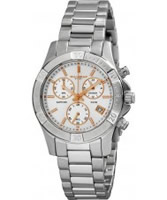 Buy Dilligaf Ladies Chronograph White Silver Watch online