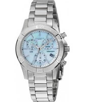 Buy Dilligaf Ladies Steel Chrono Blue Watch online