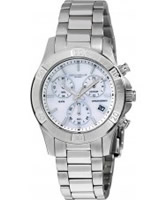 Buy Dilligaf Ladies Steel Chrono White Watch online