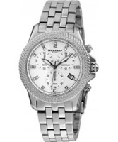 Buy Dilligaf Ladies Chronograph Crystals White Watch online