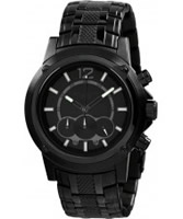 Buy Dilligaf Mens Chronometer All Black Watch online