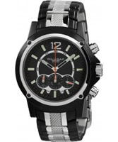 Buy Dilligaf Mens Chronograph Black Silver Watch online