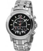 Buy Dilligaf Mens Steel Black Dial Ss Bracelet Watch online