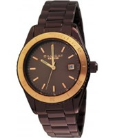 Buy Dilligaf Ladies Steel Brown Watch online