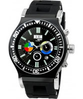 Buy Dilligaf Mens Neon Chrono Black Watch online