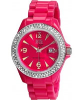 Buy Dilligaf Neon Crystals Pink Watch online