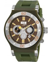 Buy Dilligaf Mens Neon Chronograph Green Watch online