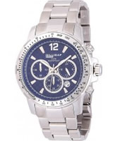 Buy Dilligaf Mens Steel Chronograph Blue Watch online