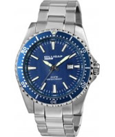Buy Dilligaf Mens Steel Blue Watch online