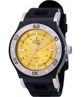 Buy Dilligaf Mens Neon Yellow Black Watch online