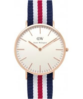 Buy Daniel Wellington Mens Canterbury Rose Multicolour Nato Strap Watch online