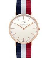 Buy Daniel Wellington Mens Cambridge Rose Multicolour Nato Strap Watch online