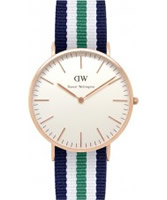 Buy Daniel Wellington Mens Nottingham Rose Multicolour Nato Strap Watch online