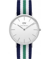 Buy Daniel Wellington Mens Nottingham Silver Multicolour Nato Strap Watch online