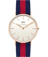 Buy Daniel Wellington Ladies Oxford Rose Red and Blue Nato Strap Watch online