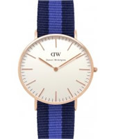 Buy Daniel Wellington Ladies Swansea Rose Black and Blue Nato Strap Watch online