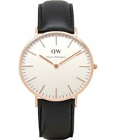 Buy Daniel Wellington Ladies Sheffield Rose Brown Leather Strap Watch online