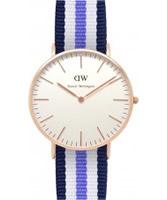 Buy Daniel Wellington Ladies Trinity Rose Multicolour Nato Strap Watch online