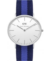 Buy Daniel Wellington Ladies Swansea Silver Purple and Blue Nato Strap Watch online