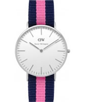 Buy Daniel Wellington Ladies Winchester Silver Pink and Blue Nato Strap Watch online