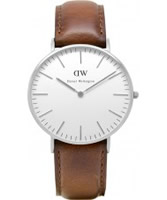 Buy Daniel Wellington Ladies St Andrews Silver Brown Leather Strap Watch online
