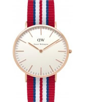 Buy Daniel Wellington Mens Exeter Rose Multicolour Nato Strap Watch online