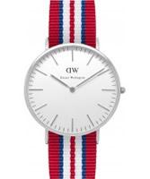 Buy Daniel Wellington Mens Exeter Silver Multicolour Nato Strap Watch online