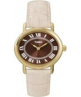 Buy Timex Ladies Park Ave Brown Dial Watch online