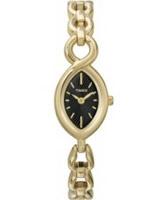 Buy Timex Ladies Elixir Black Dial Gold Tone Watch online
