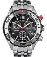 Buy Timex Mens Sl Series Chronograph Black Steel Watch online
