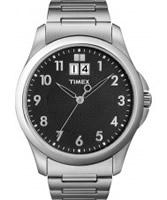 Buy Timex Mens Classic Black Dial Metal Bracelet Watch online