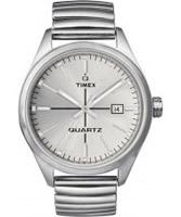 Buy Timex Originals Unisex T Series Silver Dial Steel Expander Watch online