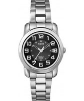 Buy Timex Ladies Classic Black Dial Steel Watch online