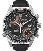 Buy Timex Intelligent Quartz Mens Black PREMIUM IQ Compass Chronograph Watch online